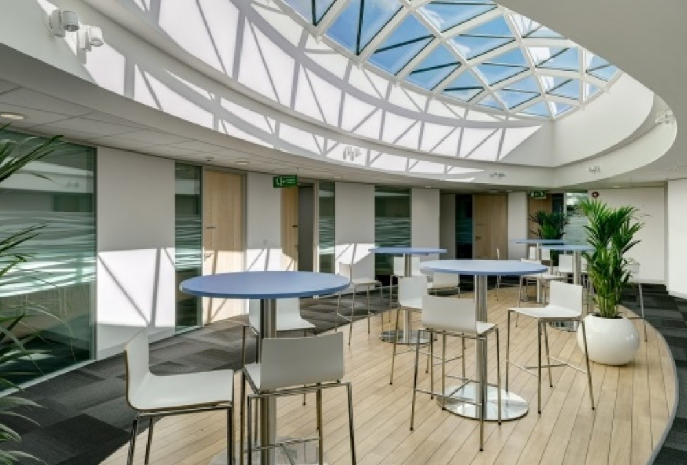Gridshell Rooflight at Boehringer Ingleheim UK Headquarters