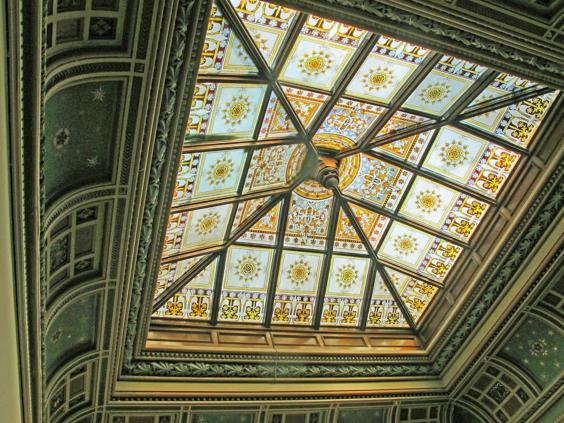 Stained glass rooflight