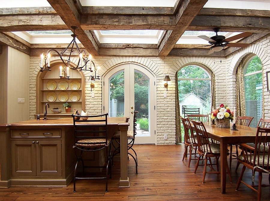 Kitchen wooden beams