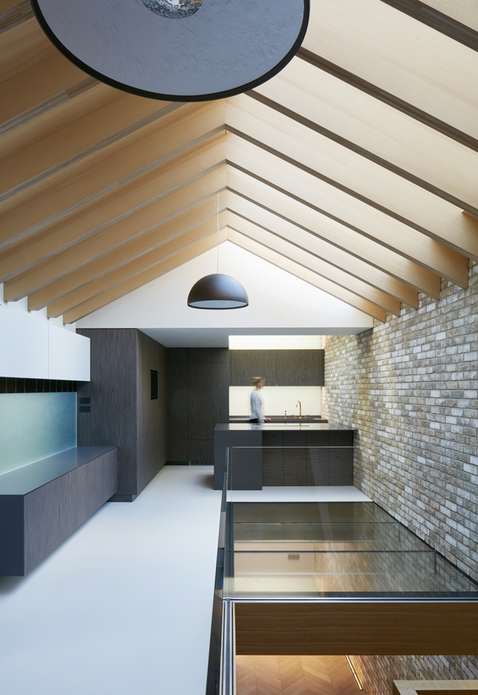 Fixed Multi-panel walk-on rooflight, fixed multi-panel skylight and glass balustrade