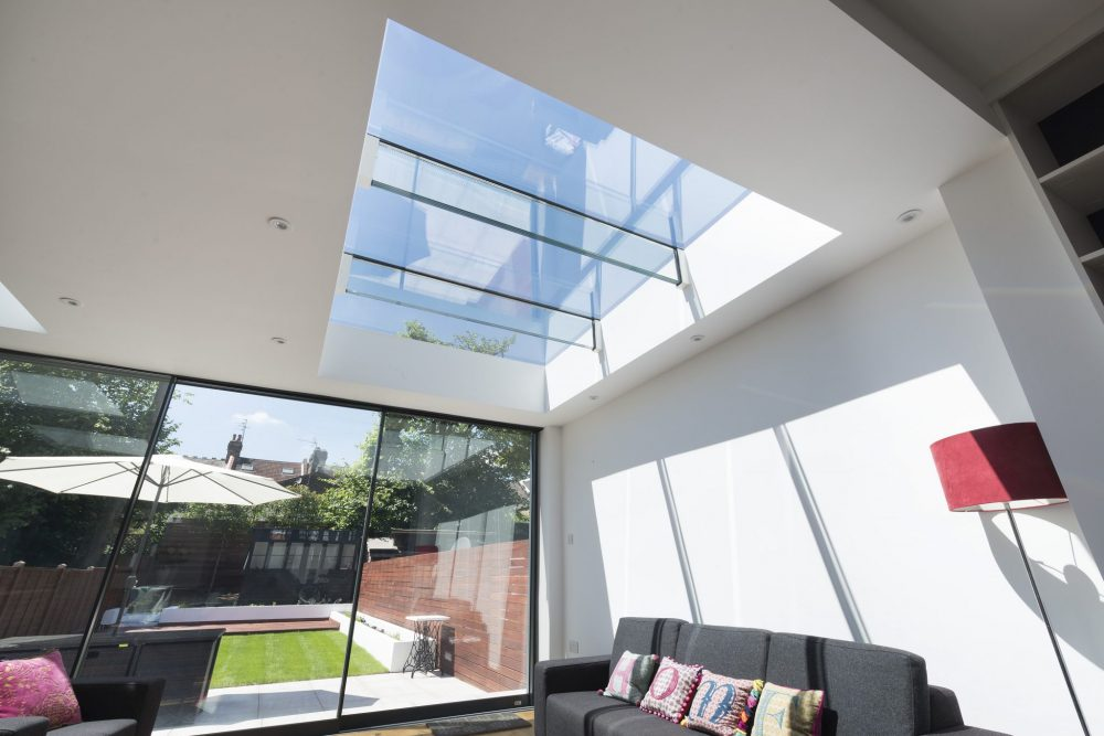 Fixed Multi-panel Skylights with Glass Beams