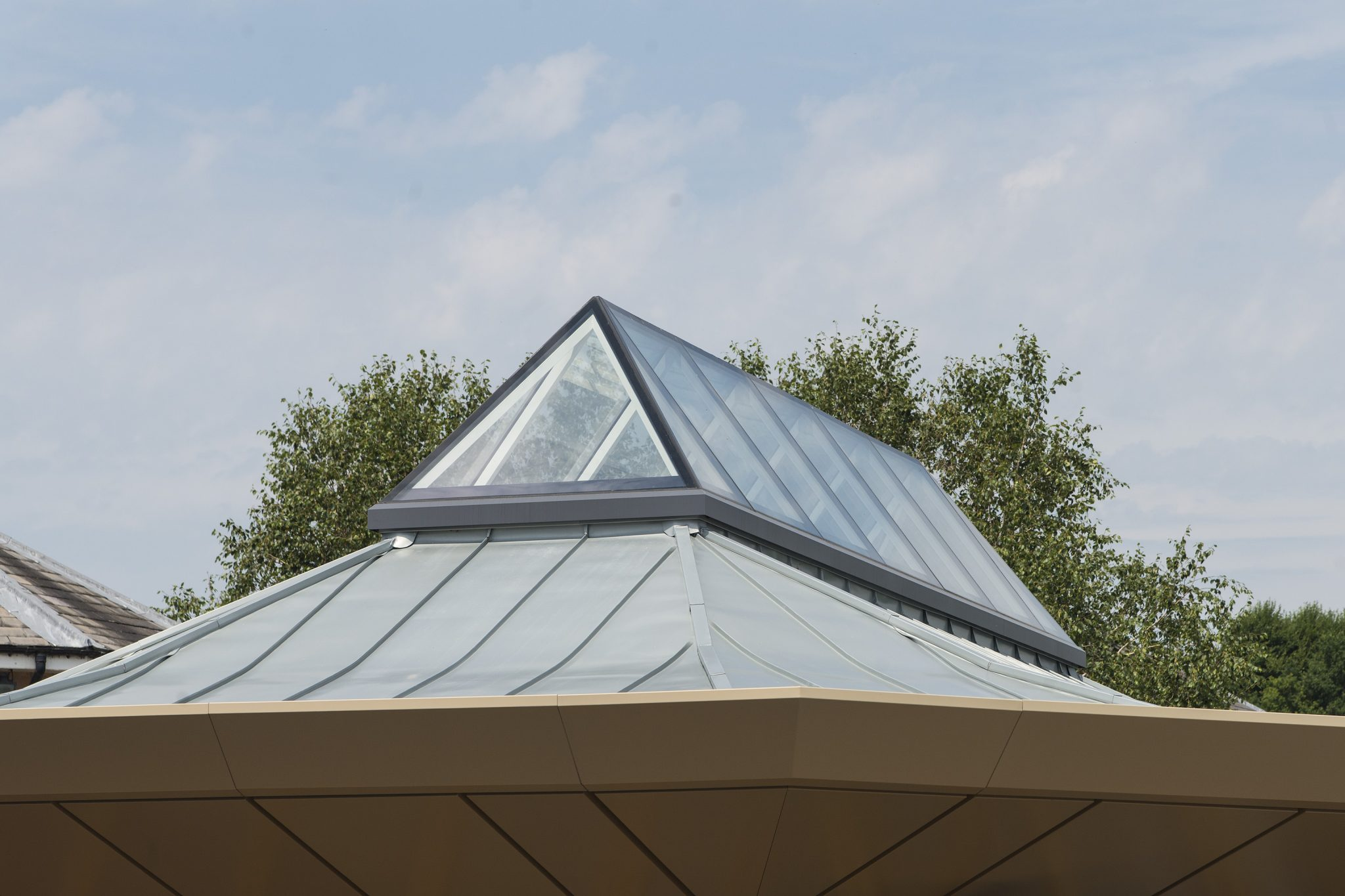 Bespoke Fixed Lantern Style Multi-Panel Rooflight - Exterior