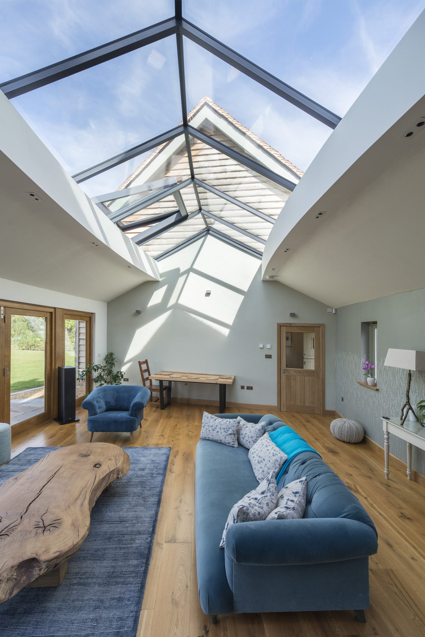 Bespoke Multi-panel rooflight with fixed and opening sections