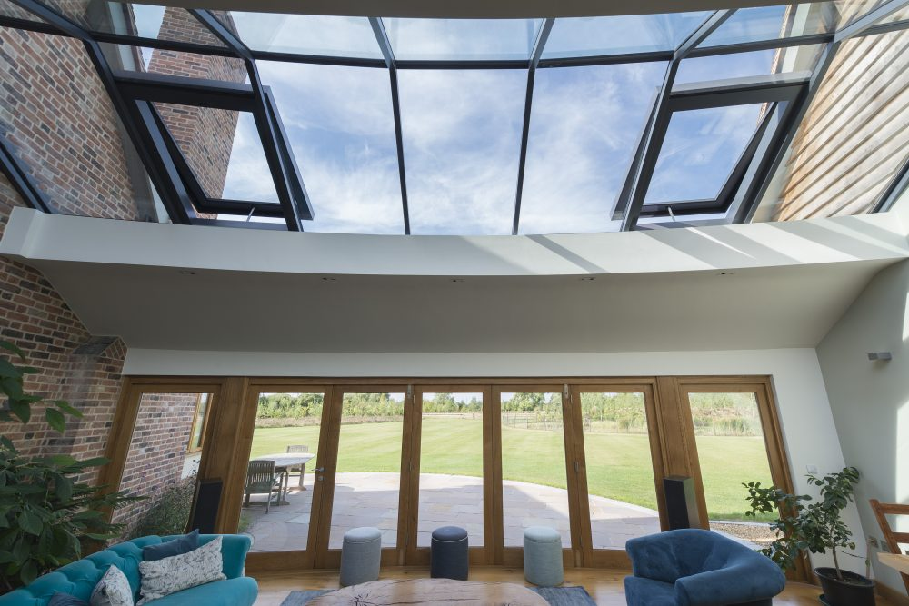 Bespoke Multi-panel rooflight opening sections