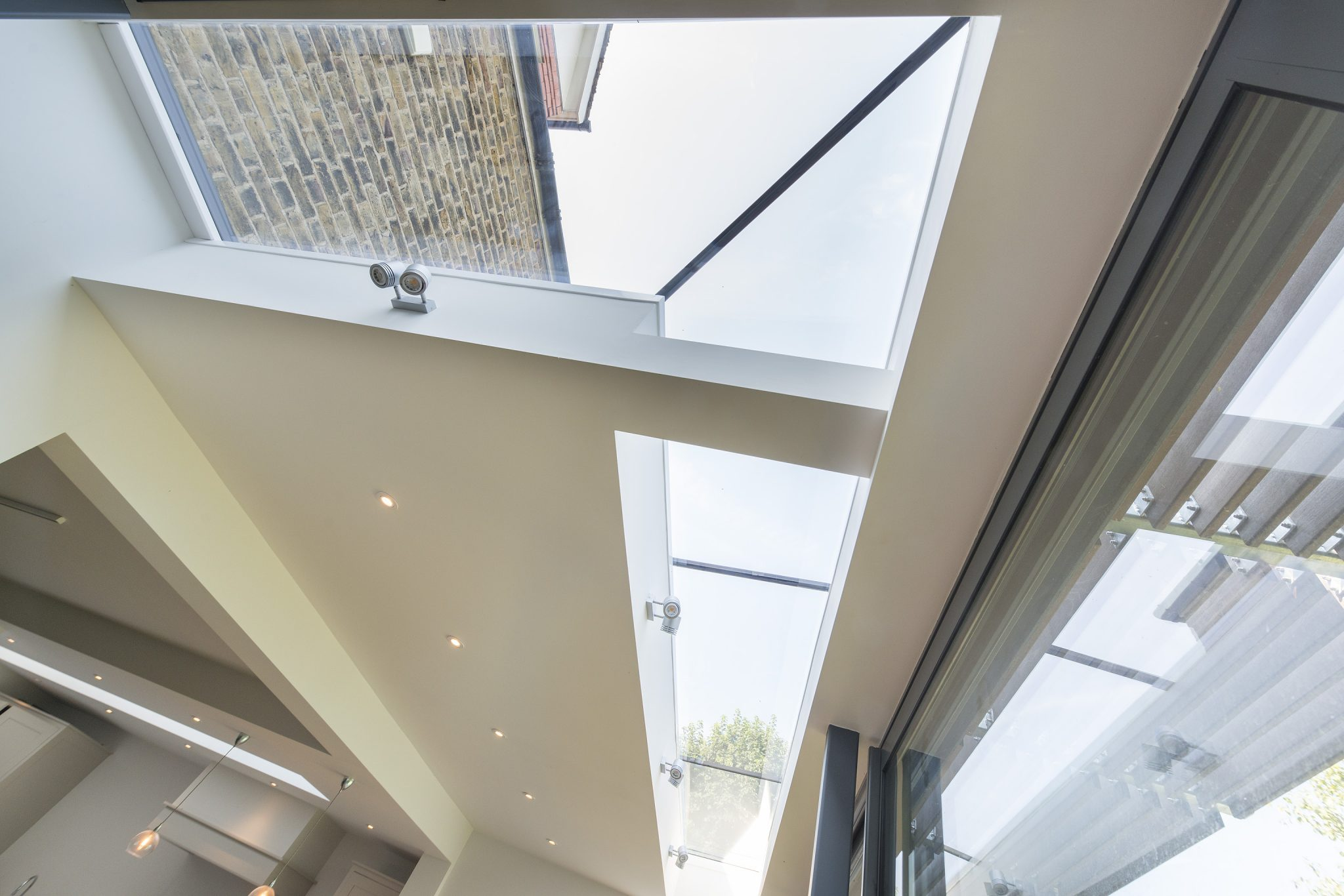 Bespoke L-Shape Multi-Panel Rooflight with Fixed and Opening Sections