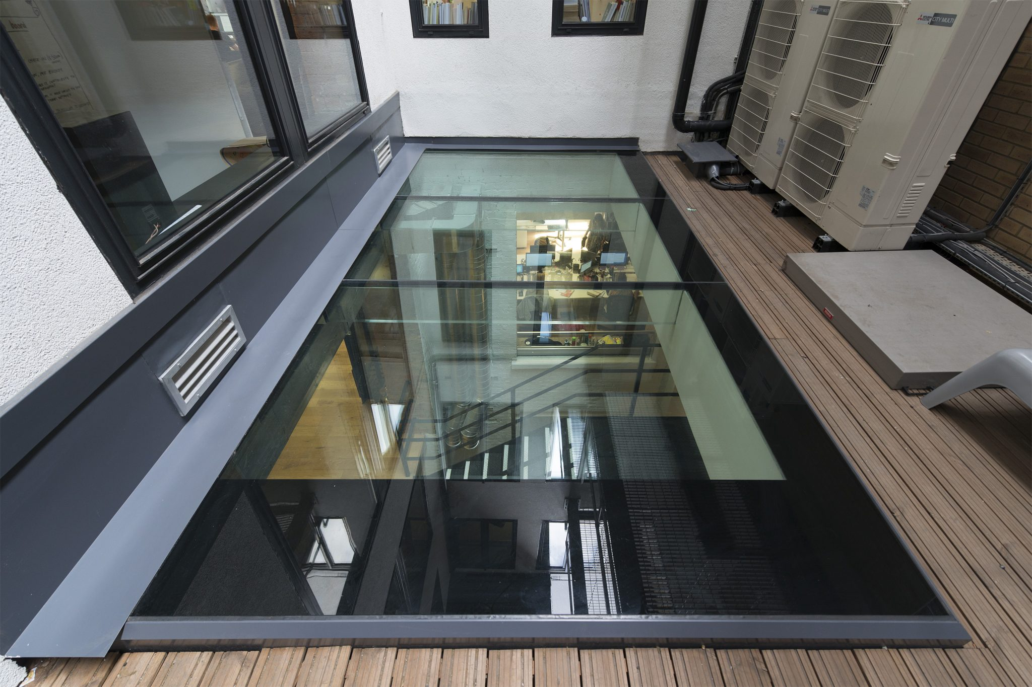 Bespoke Multi-Panel Walk-on Rooflight with Glass Beams