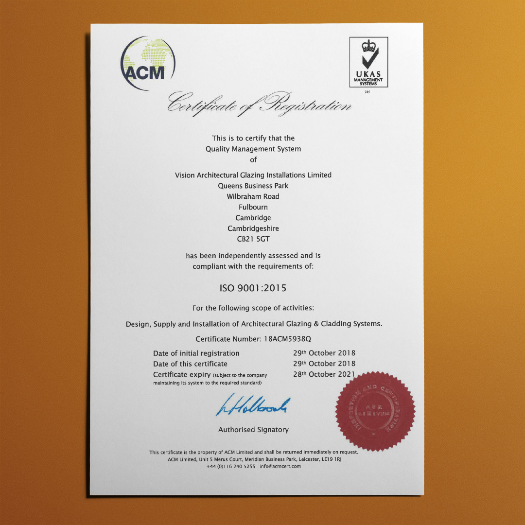 Vision AGI ISO 9001 : 2015 Certification