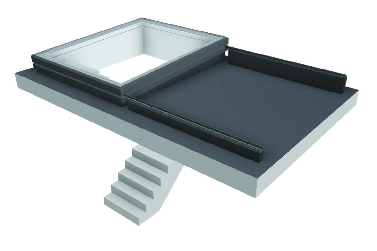 Slideover Roof - Slideover Fixed - Slide Opening Rooflight