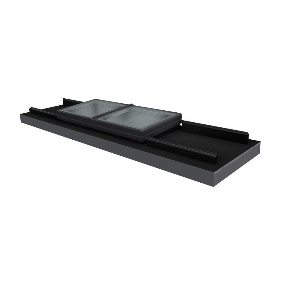 Vision AGI Sliding rooflight. This style is the Bi-Parting Slide Over Roof