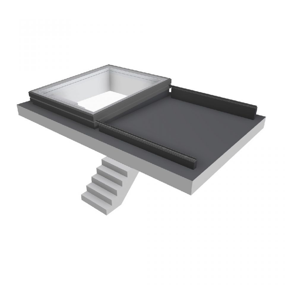Vision AGI Sliding rooflight. This style is the Slide Over Roof