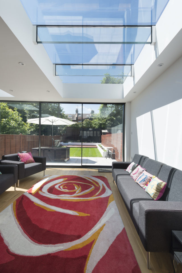 Rooflights with Glass Beams provide uninterrupted light